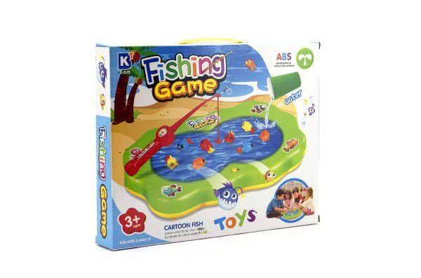Hra ryby plast společenská hra na baterie - nový druh (možno nalít vodu) v krabici 33x26x5cm