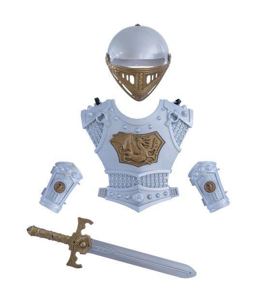 Sada rytíř meč přilba brnění 5ks plast na kartě 37x62x9cm