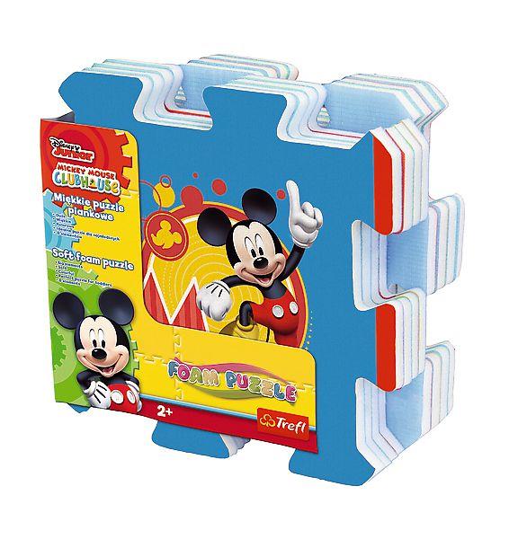 Pěnové puzzle Mickey 32x32x1cm 8ks v sáčku