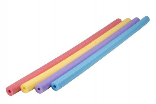 Vodní tyč plavací pěnová trubice 155cm průměr 6cm asst 4 barvy
