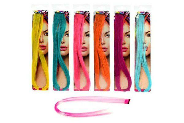 Příčesek do vlasů 50cm asst 6 barev v sáčku