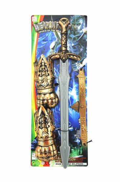 Sada rytíř meč 56cm plast 4ks na kartě