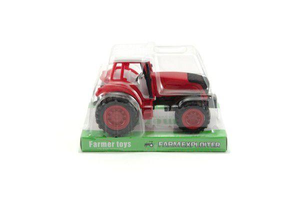 Traktor na setrvačník 16cm asst 2 barvy v krabičce