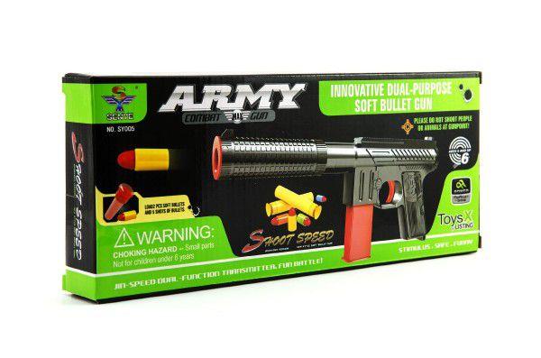 Pistole na pěnové náboje plast 24cm v krabici 25x14cm