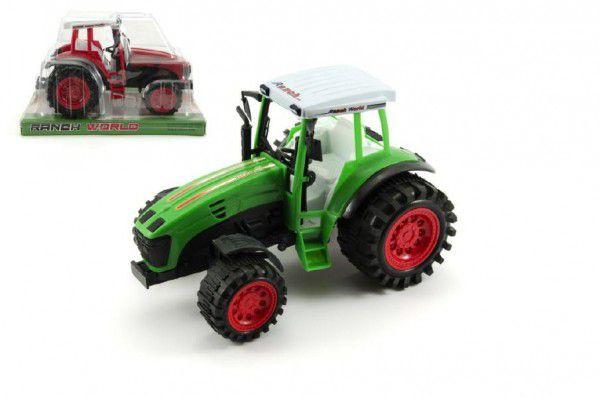 Traktor plast 24cm na setrvačník asst 2 barvy v krabici