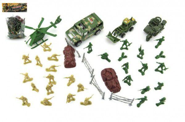 Teddies 50026 Sada vojáci s doplňky plast v sáčku 18x25cm