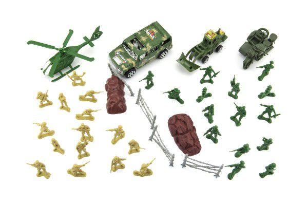Sada vojáci s doplňky plast v sáčku 18x25cm