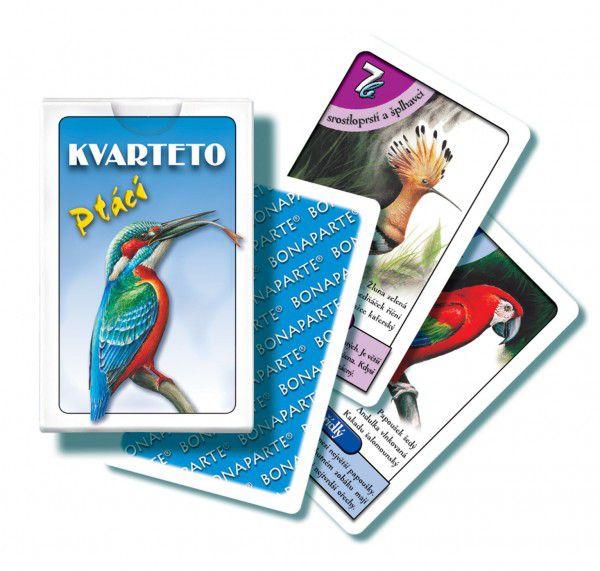 Kvarteto Ptáci společenská hra karty v papírové krabičce