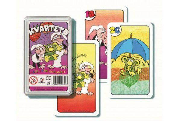 Kvarteto Pojď s námi do pohádky společenská hra v plastové krabičce 6,5x11x2cm