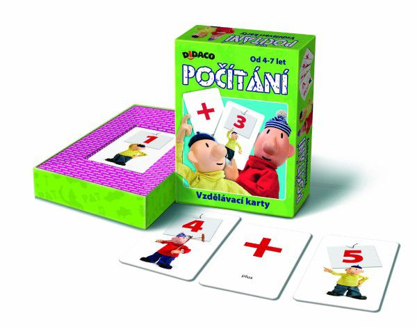 DIDACO vzdělávací karty počítání Pat a Mat v krabičce 10x16x3cm