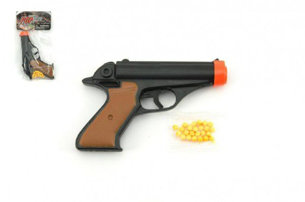 Pistole na kuličky 15cm + kuličky plast v sáčku