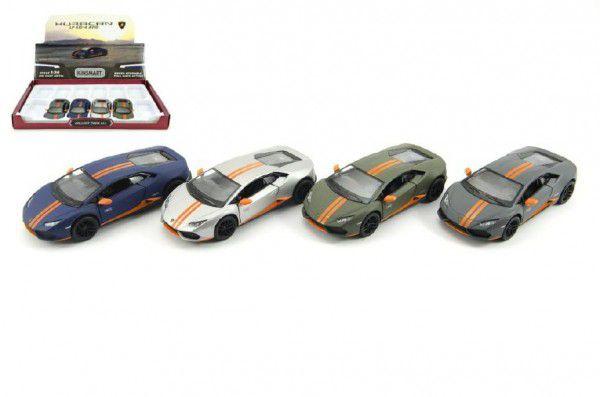 Auto Kinsmart Lamborghini Huracan kov 12cm na zpětné natažení - 4 barvy