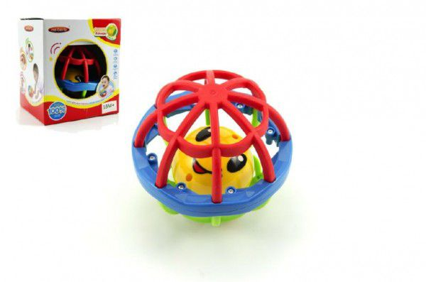 Teddies Chrastítko koule plast 10cm