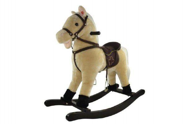 Teddies 50078 Kůň houpací béžový plyš nosnost 50kg