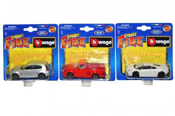 Bburago Wiky Auto Street Fire kov 10cm 1:43