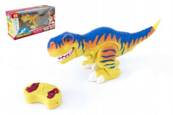 Teddies Dinosaurus chodící RC plast 38cm na baterie se zvukem se světlem 2,4GHz