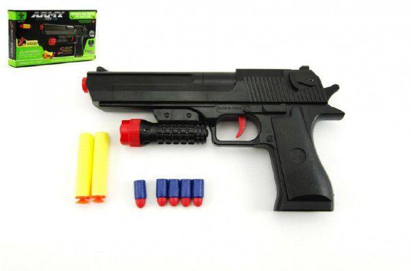 Teddies pistole na pěnové náboje 2 ks + špuntovka 5 ks plast 30 cm