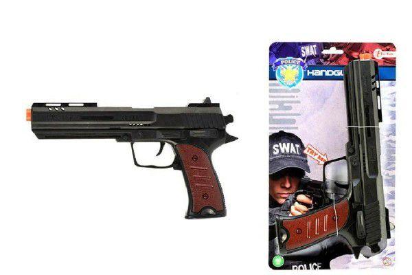 Pistole jiskřící plast 28cm na setrvačník na kartě