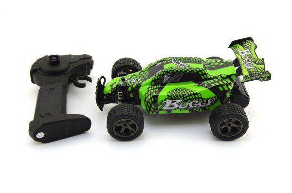 Auto RC Buggy plast 22cm s adaptérem na baterie asst 2 barvy v krabici 31x15x19cm