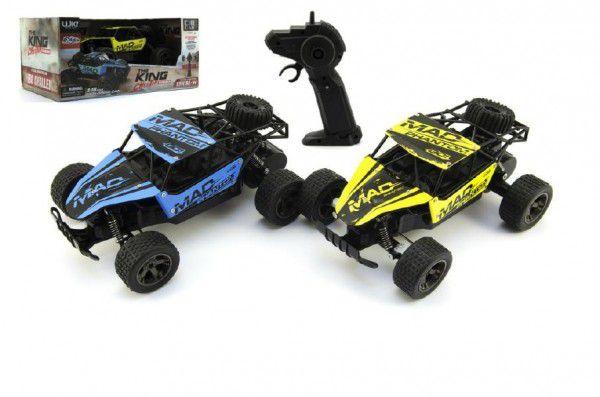 Teddies Auto RC Buggy plast/kov 20cm s adaptérem na baterie