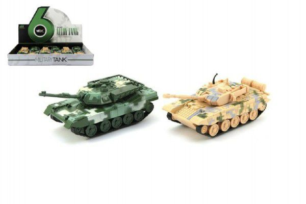Tank plast 16cm - 2 barvy