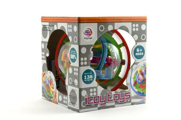 Hlavolam Bludiště 3D koule plast 17cm Perplexus v krabici