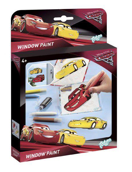 Barvy na sklo Auta/Cars 5ks + 2 předlohy v krabičce 18x24x3,5cm