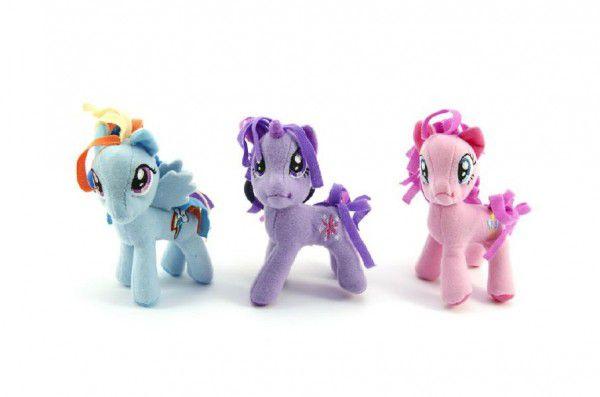 Přívěšek poník My Little Pony plyš 9cm asst 3 barvy v sáčku