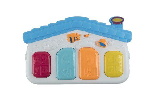 Piánko 4 klávesy plast 33cm pro nejmenší na baterie se zvukem v krabici
