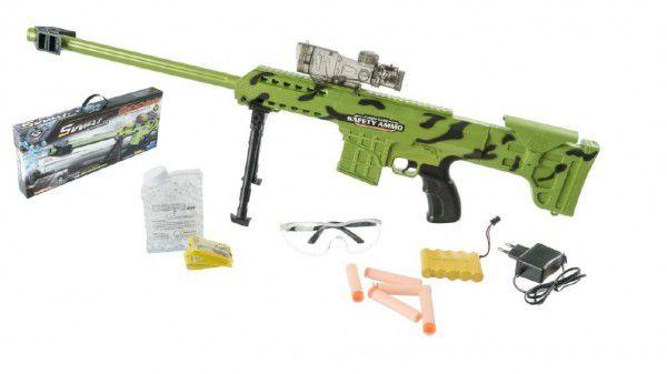 Teddies puška plast 77cm na vodní kuličky odstřelovací na baterie v krabici 65x28x7cm