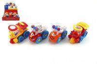 Auto/vlak plast veselé s kuličkami 10cm - 2 druhy