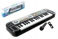 Piánko plast s mikrofonem 37 kláves 45cm na baterie v krabici