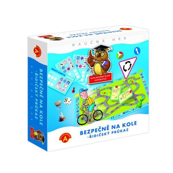 Bezpečně na kole - řidičský průkaz společenská naučná hra v krabici 24,5x25,5x6cm