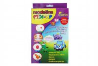Modelína/plastelína samotvrdnoucí MIX-UP 100g+5 barev gelu v krabici 15x24x3cm
