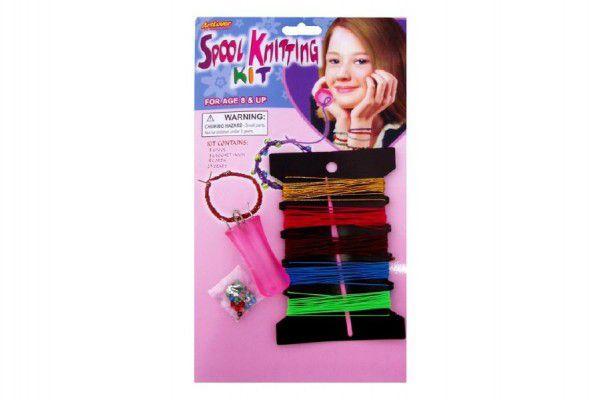 Sada pletení náramků + doplňky na kartě 17x29cm