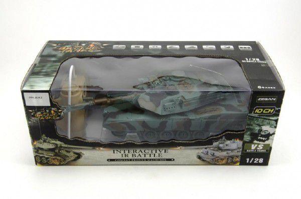 Teddies Tank RC plast 33cm M1A2 27MHz na baterie+dobíjecí pack se zvukem a světlem