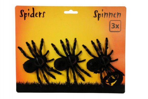 Pavouk fliška 3ks 11cm na kartě