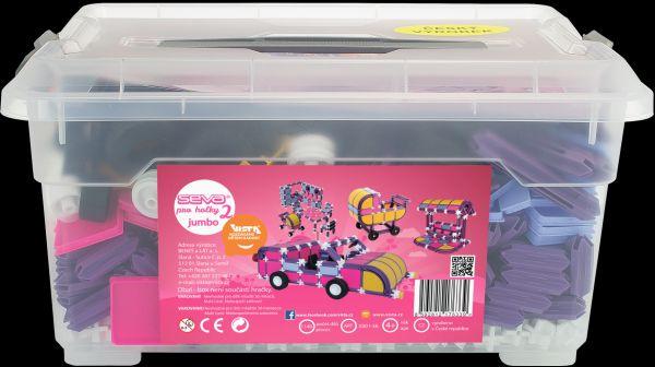Stavebnice Seva pro holky 2 Jumbo plast 1140ks v plastovém boxu 37x20x26cm