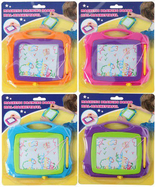 Magnetická tabulka kreslící plast 19cm asst 4 barvy na kartě