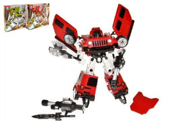 Transformer auto/robot plast 23cm asst 4 druhy v krabici 30x30cm