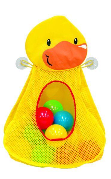 Síťka kačenka s míčky plast 30cm v krabici