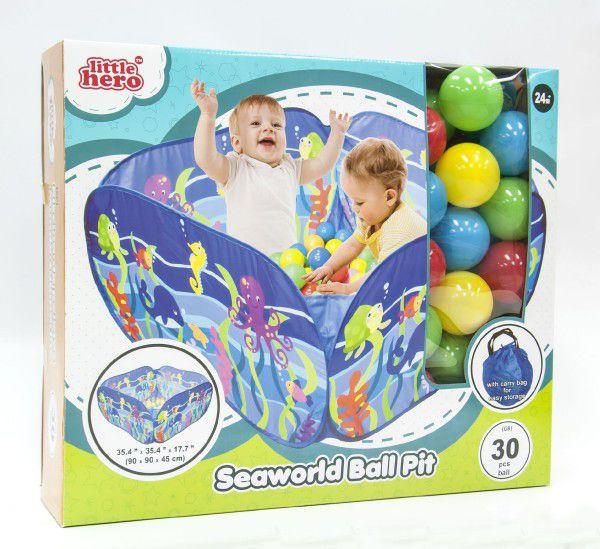 Hrací ohrádka mořský svět+30 míčků 90x90x45cm v krabici
