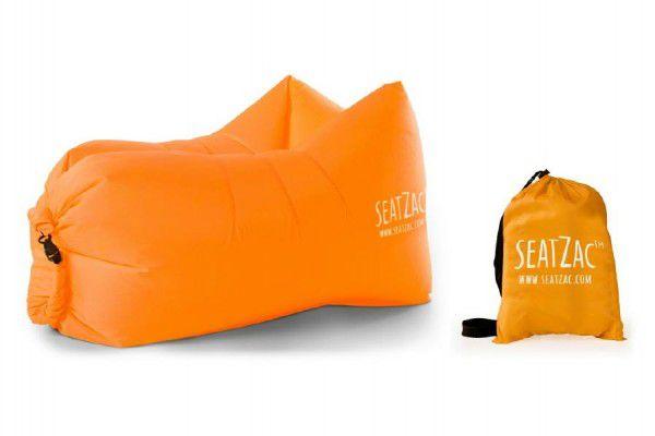 Samonafukovací sedací vak oranžový voděodolný 110x70x80cm SeatZac v sáčku