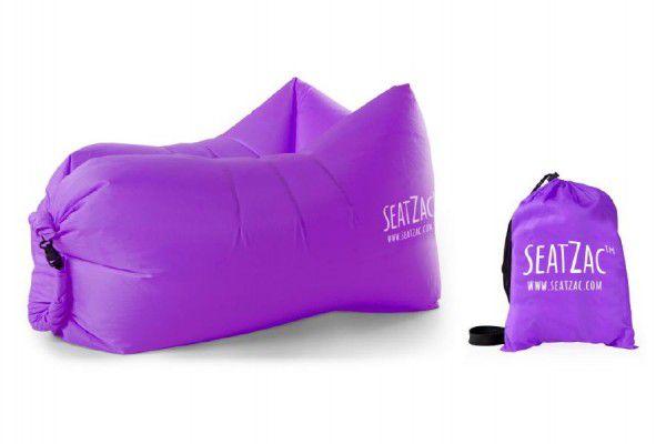 Samonafukovací sedací vak fialový voděodolný 110x70x80cm SeatZac v sáčku