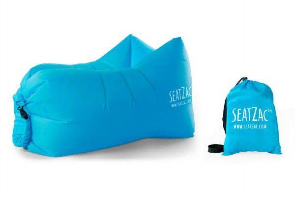 Samonafukovací sedací vak modrý voděodolný 110x70x80cm SeatZac v sáčku
