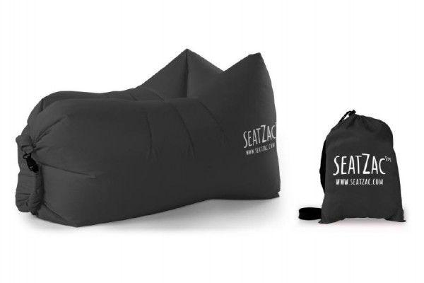 Samonafukovací sedací vak černý voděodolný 110x70x80cm SeatZac v sáčku