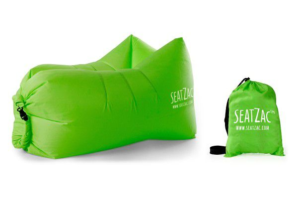 Samonafukovací sedací vak zelený voděodolný 110x70x80cm SeatZac v sáčku