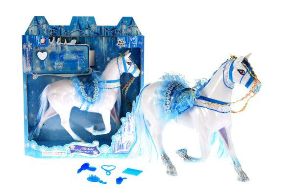 Kůň plast 16cm s doplňky v krabici
