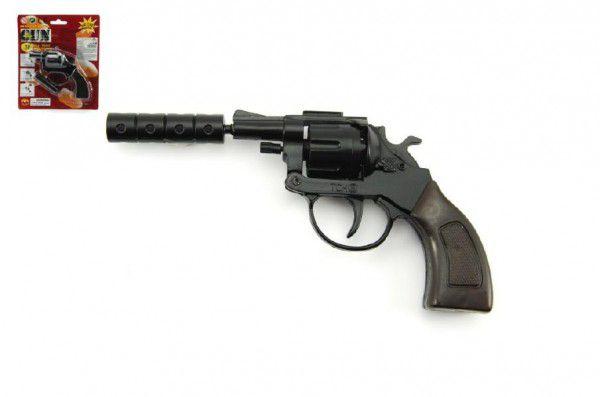 Teddies pistole kapslovka 12cm kov 8 ran na kartě