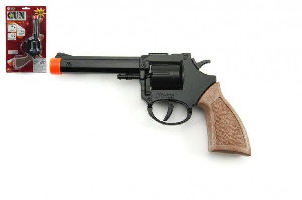Rock David pistole kapslovka 18cm kov 8 ran na kartě